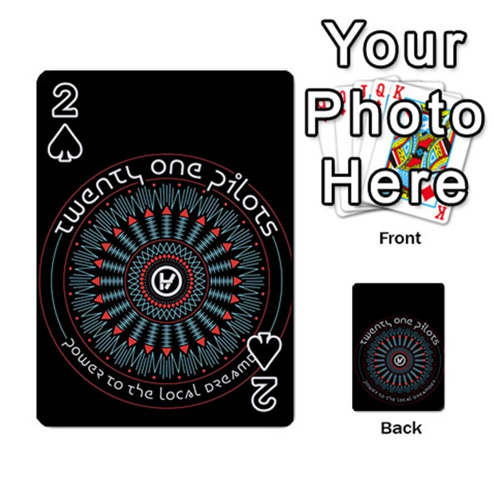 Twenty One Pilots Playing Cards 54 Designs