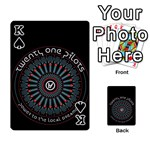 Twenty One Pilots Playing Cards 54 Designs  Front - SpadeK