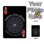 Twenty One Pilots Playing Cards 54 Designs  Front - Heart3