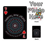 Twenty One Pilots Playing Cards 54 Designs  Front - Heart7