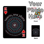Twenty One Pilots Playing Cards 54 Designs  Front - HeartK