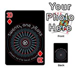 Twenty One Pilots Playing Cards 54 Designs  Front - Diamond10