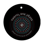 Twenty One Pilots Round Ornament (Two Sides)  Back