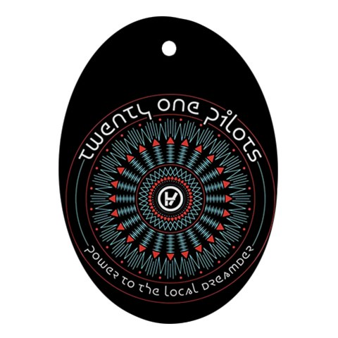 Twenty One Pilots Oval Ornament (Two Sides)