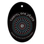 Twenty One Pilots Oval Ornament (Two Sides) Back