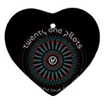 Twenty One Pilots Heart Ornament (2 Sides) Front