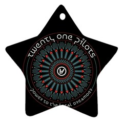 Twenty One Pilots Star Ornament (two Sides)