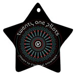 Twenty One Pilots Star Ornament (Two Sides)  Front