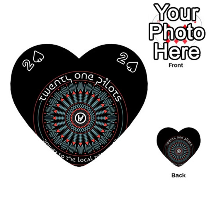 Twenty One Pilots Playing Cards 54 (Heart)