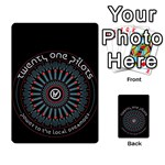 Twenty One Pilots Multi-purpose Cards (Rectangle)  Back 9