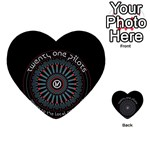 Twenty One Pilots Multi-purpose Cards (Heart)  Back 12