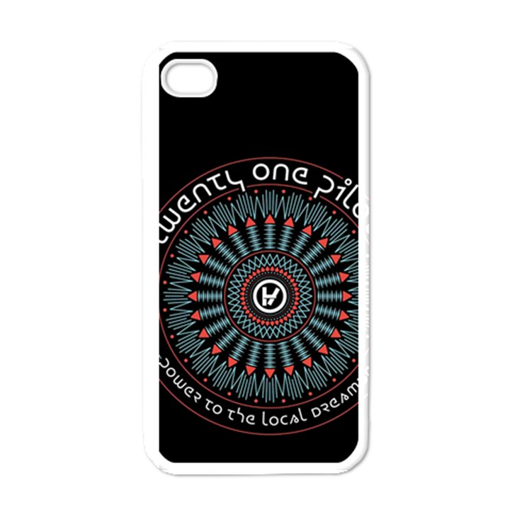 Twenty One Pilots Apple iPhone 4 Case (White)