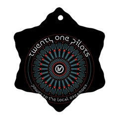 Twenty One Pilots Ornament (Snowflake)