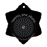 Twenty One Pilots Ornament (Snowflake)  Front