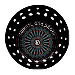 Twenty One Pilots Round Filigree Ornament (2Side) Front
