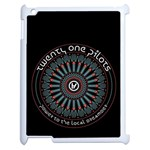 Twenty One Pilots Apple iPad 2 Case (White) Front