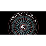 Twenty One Pilots Twin Hearts 3D Greeting Card (8x4) Back