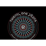 Twenty One Pilots Circle Bottom 3D Greeting Card (7x5) Back