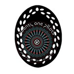 Twenty One Pilots Oval Filigree Ornament (2-Side)  Back