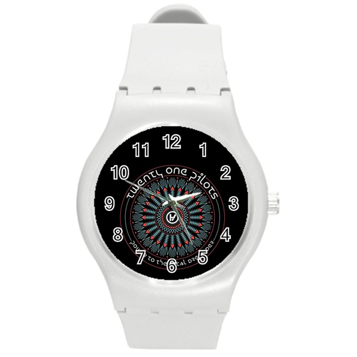 Twenty One Pilots Round Plastic Sport Watch (M)