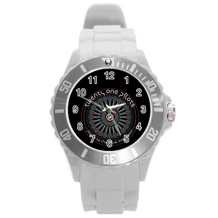 Twenty One Pilots Round Plastic Sport Watch (L)