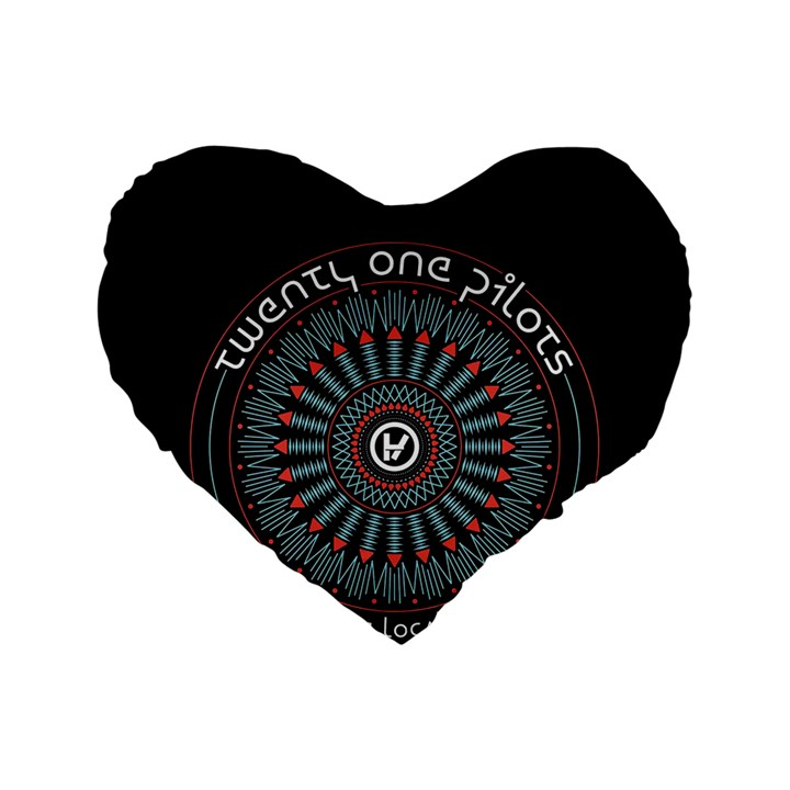 Twenty One Pilots Standard 16  Premium Heart Shape Cushions