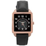 Twenty One Pilots Rose Gold Leather Watch  Front