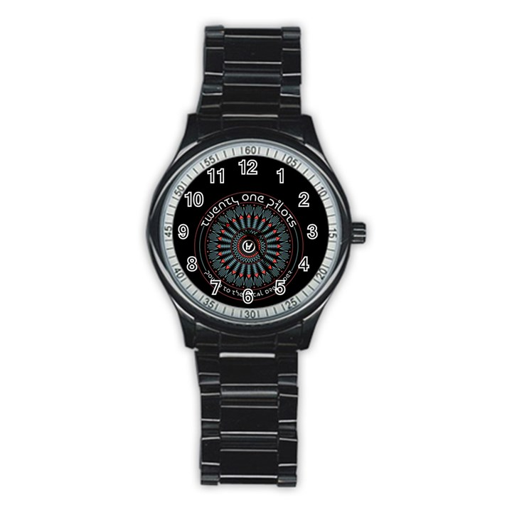 Twenty One Pilots Stainless Steel Round Watch