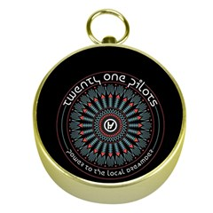Twenty One Pilots Gold Compasses
