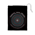 Twenty One Pilots Drawstring Pouches (Large)  Front