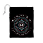 Twenty One Pilots Drawstring Pouches (Large)  Back