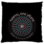 Twenty One Pilots Large Flano Cushion Case (Two Sides) Back