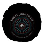 Twenty One Pilots Large 18  Premium Flano Round Cushions Back