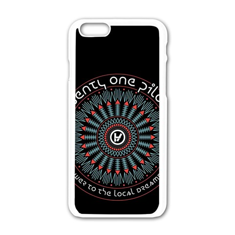 Twenty One Pilots Apple iPhone 6/6S White Enamel Case