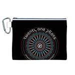 Twenty One Pilots Canvas Cosmetic Bag (L) Front
