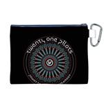 Twenty One Pilots Canvas Cosmetic Bag (XL) Back