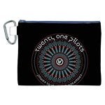 Twenty One Pilots Canvas Cosmetic Bag (XXL) Front