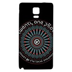 Twenty One Pilots Galaxy Note 4 Back Case Front