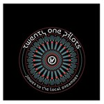 Twenty One Pilots Large Satin Scarf (Square) Front