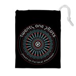 Twenty One Pilots Drawstring Pouches (Extra Large) Front