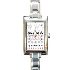 Ugly Christmas Humping Rectangle Italian Charm Watch