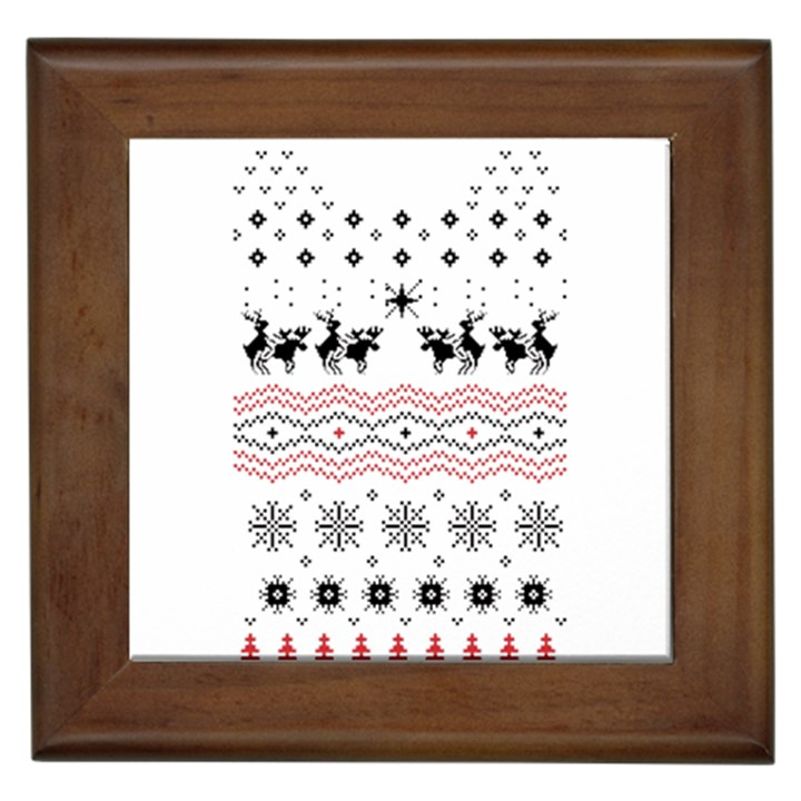 Ugly Christmas Humping Framed Tiles