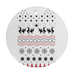 Ugly Christmas Humping Ornament (Round)