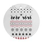 Ugly Christmas Humping Ornament (Round)  Front