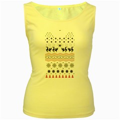 Ugly Christmas Humping Women s Yellow Tank Top