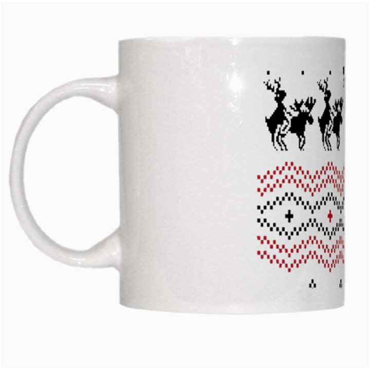 Ugly Christmas Humping White Mugs