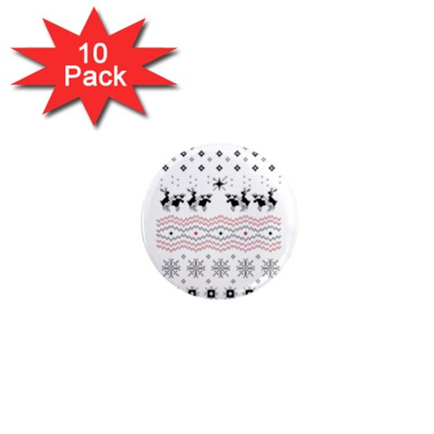 Ugly Christmas Humping 1  Mini Magnet (10 pack)