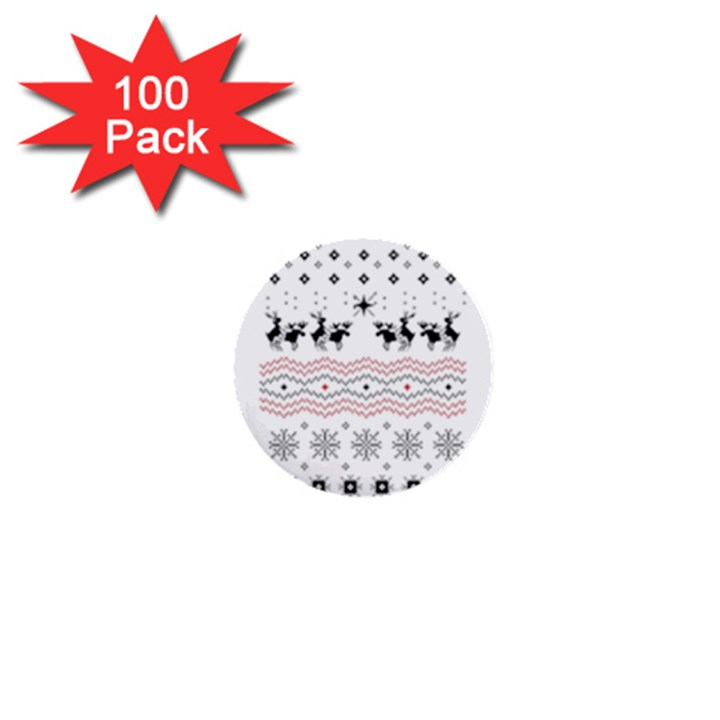 Ugly Christmas Humping 1  Mini Buttons (100 pack)