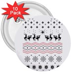 Ugly Christmas Humping 3  Buttons (10 pack)  Front