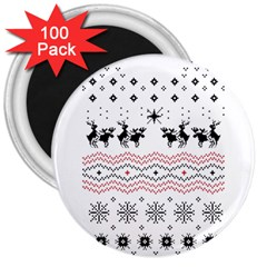 Ugly Christmas Humping 3  Magnets (100 pack)
